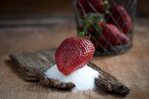 azúcar-fresa